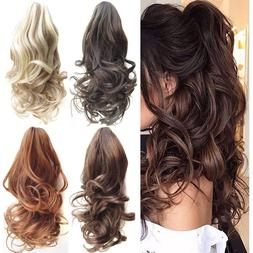 1 2pcs ponytail clip in hair extensions