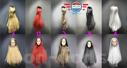"""1/6 Scale Hair Wig 2.5 Multi Colors For 12"""" Female Head Scul"""