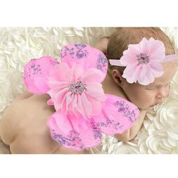 1 set Baby Photography Props Cute Soft Butterfly Wings for G