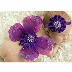1 set Baby Photography Props Soft Headband for Gender Reveal