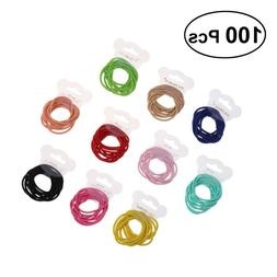 100pcs Boutique Baby Girls Hair Ties Elastic Stretchy Rubber