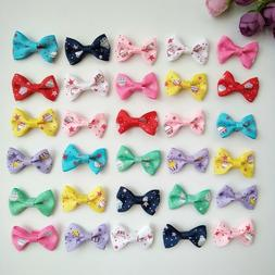 """10pcs 1.4"""" Tiny Hair Bows Alligator Clips Barrettes for Baby"""