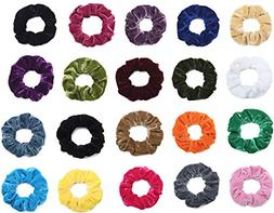 20 pack hair scrunchies velvet scrunchy hair