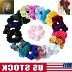 20 Pack Velvet Hair Scrunchies Hair Ties Elastic Hair Bands