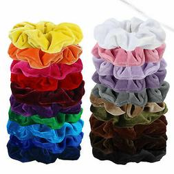 20 pcs hair ring velvet scrunchie set