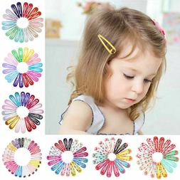 20pcs 5cm Snap Hair Clips for Hair Clip Pins BB Hairpin Colo