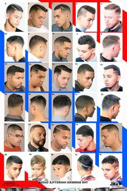 24 X 36 BARBER SHOP POSTER MODERN HAIR STYLES FOR MEN YOUTH