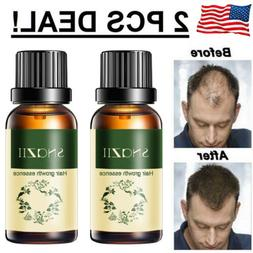 2x Hair Growth Products For Men Women Natural Oil Serum Loss