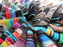 30 Goody Ouchless Rubber Elastic Ponytailer Hair Bands Thick