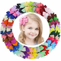 40pcs 20 Pairs Baby Girls Hair Bows For Kids Hair Bands Alli