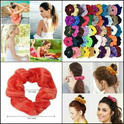 40PCS-WATINC Colorful Velvet Hair Scrunchies Set, Elastic Bo