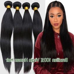 4Bundles 400G Peruvian 8A Virgin Human Hair Extension Straig