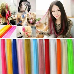 5PCS Random Color Straight Synthetic Clip in Hair Extensions