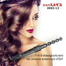 6 In 1 Hair Curler Hair Iron Curling Ceramic Wave Styler For