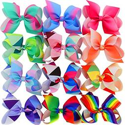6 Inch Hair Bows Ties For Girls Women Kids Bow Tie Lot Ribbo
