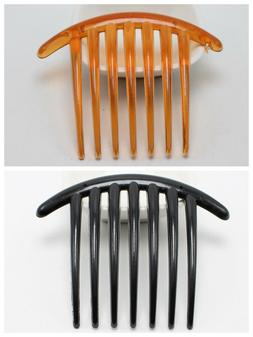 6 Plastic 7 Teeth Volume Inserts Hair Comb Clips Pins for Bo