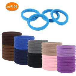 60 seamless metal free elastic bands hair
