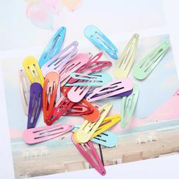 "60pcs 2"" Snap Hair Clips for Hair Clip Pins BB Hairpin Col"
