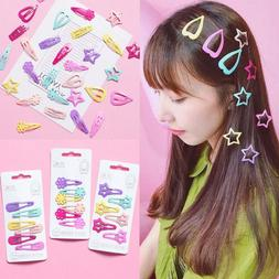 6X Snap Hair Clip Hairpin Barrette Headwear Accessories For