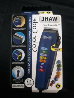 Wahl 79424200 Color Code Hair Cut Clipper Kit - 17 Piece