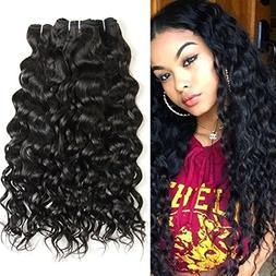 7A Grade Brazilian Virgin Water Wave 3 Bundles Human Remy Ha