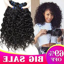 8A Brazilian Hair Water Wave 3 Bundles Wet and Wavy Human Ha