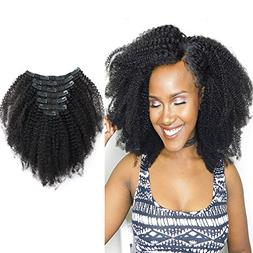 Sassina Real Thick Virgin Brazilian Afro Curly Clip In Hair