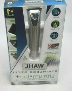 WAHL 9818 Stainless Steel Lithium Ion+ Hair Clipper/Trimmer