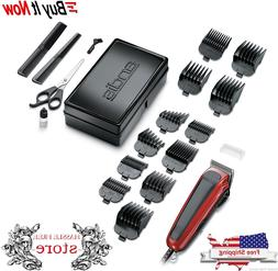 Andis Easy Cut 20-Piece Haircutting Kit, Red/Black