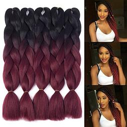 Dingxiu  2 Tone Jumbo Braid Ombre Braiding Hair X-pression H