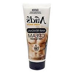 Nad's For Men Hair Removal Cream, 6.8 oz Pack of 2