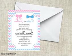 Baby Shower Gender Reveal Bow Tie Hair Bow Personalized Cust