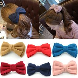 Big Hair Bow Barrette Bowknot Hair Clip Hair Accessories for