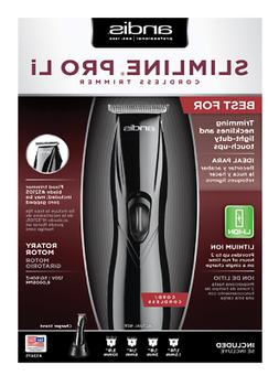 Andis Black Slimline Pro Li Cordless Trimmer Model 32475 Bra