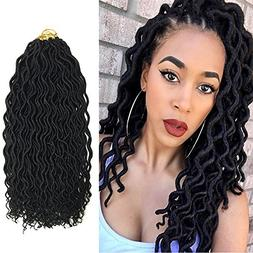 BQ 18 Inch Goddess Curly Faux Locs Crochet Hair, 24 Roots/B