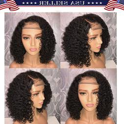 Brazilian Lace Front Black Natural Full Wig For Women Human
