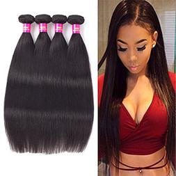 USOFT Brazilian Virgin Straight Human Hair 4 Bundles  Natura