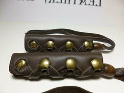 North Star Brown Leather Long Hair Ties-For Pony Tail/Braid