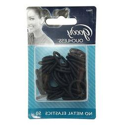 Goody - Women's Classic Shiny Mini Black Elastics, No Metal,