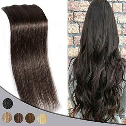 """18"""" Clip in Extensions 4pcs 100% Remy Human Hair Natural Dou"""