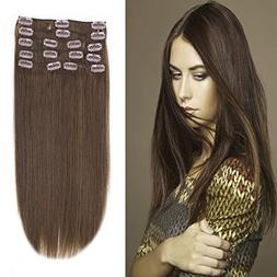 12-22inch Clip in Remy Human Hair Extensions Grade 7A Thick