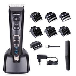 DEERCON Cordless Hair Clipper for Men Speed Adjustable Hair
