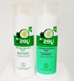 YES TO CUCUMBERS DUO Shampoo + Conditioner For Colour Treate