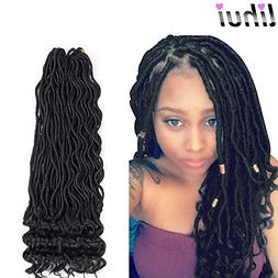Lihui 6Pcs/Lot Goddess Faux Locs Curly Faux Locs Crochet Hai