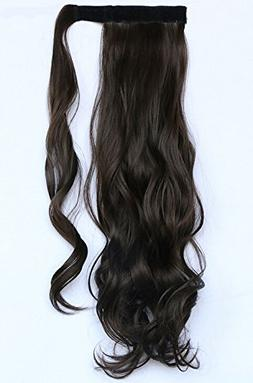 """SWACC 20"""" Women Curly Wrap Around Ponytail Extension Synthet"""