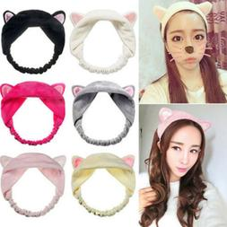 Cute Cat Ears Headband For Women Headwear Elastic Hair Bands