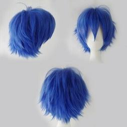 - S-noilite® Unisex Short Straight Hair Wig Anime Party Co