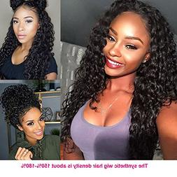 Giannay Hair Deep Curly Synthetic Lace Front Wigs Part Handm