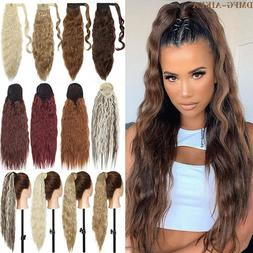 Deep Wavy Wrap Around Ponytail Curly Clip In Hair Extension