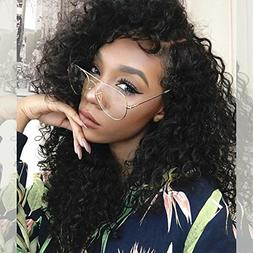 ZigZag Hair 250% Density Curly Lace Front Human Hair Wigs Fo